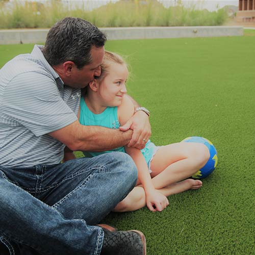 SynLawn Father and Daughter