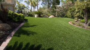 residential artificial lawn installation